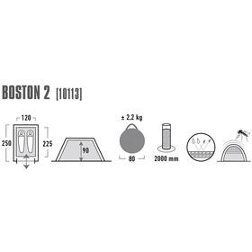 High Peak Boston 2 - Tente - gris